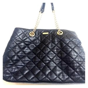 Kate Spade Quilted Gold Chain Tote Shoulder Bag